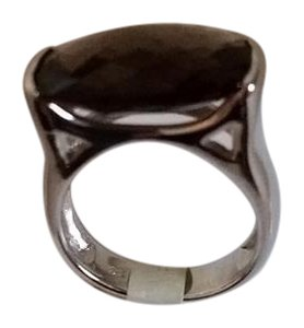 Other Sterling Silver and Smokey Quartz Ring