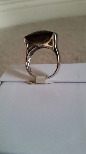 Other Sterling Silver and Smokey Quartz Ring Image 2