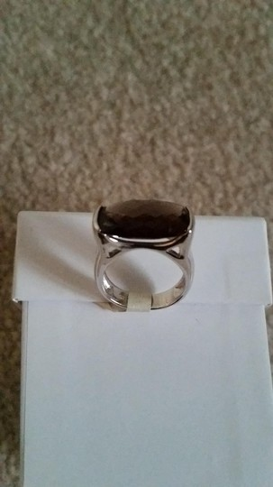 Other Sterling Silver and Smokey Quartz Ring Image 3