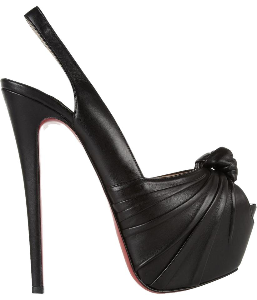 d7ff3c44980 Christian Louboutin Black Miss Benin 160mm Platform Peep Toe Heels A764  Pumps