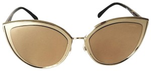 Chanel Mirror / Cat Eye 4222 c. 395/T6 18k Gold Plated Lens