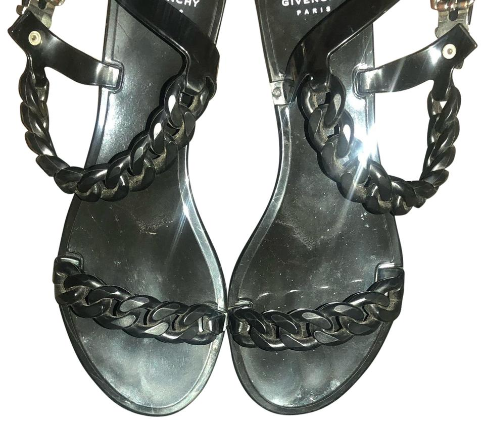 ca2c453e881e Givenchy Black Chain-link Jelly Sandals Size US 7 Regular (M