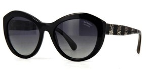 Chanel 5294 CC Oversized Butterfly Lace Tweed Cateye Polarized Sunglasses