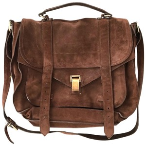 Proenza Schouler Suede Leather Classic Brown Messenger Bag