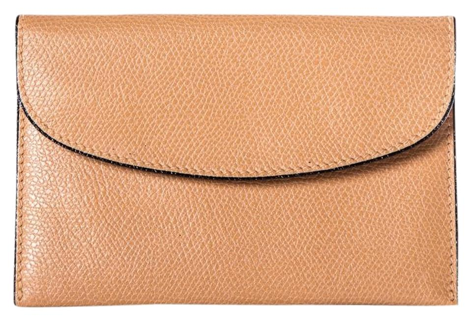 fd3b36870a4 Valextra Valextra Grained Leather Nude Card Case Image 0 ...