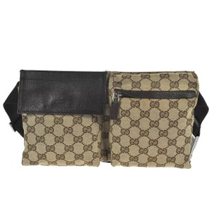 b518cace78c0 Added to Shopping Bag. Gucci Shoulder Bag. Gucci Waist Bum Monogram Fanny Pack  Brown Canvas ...