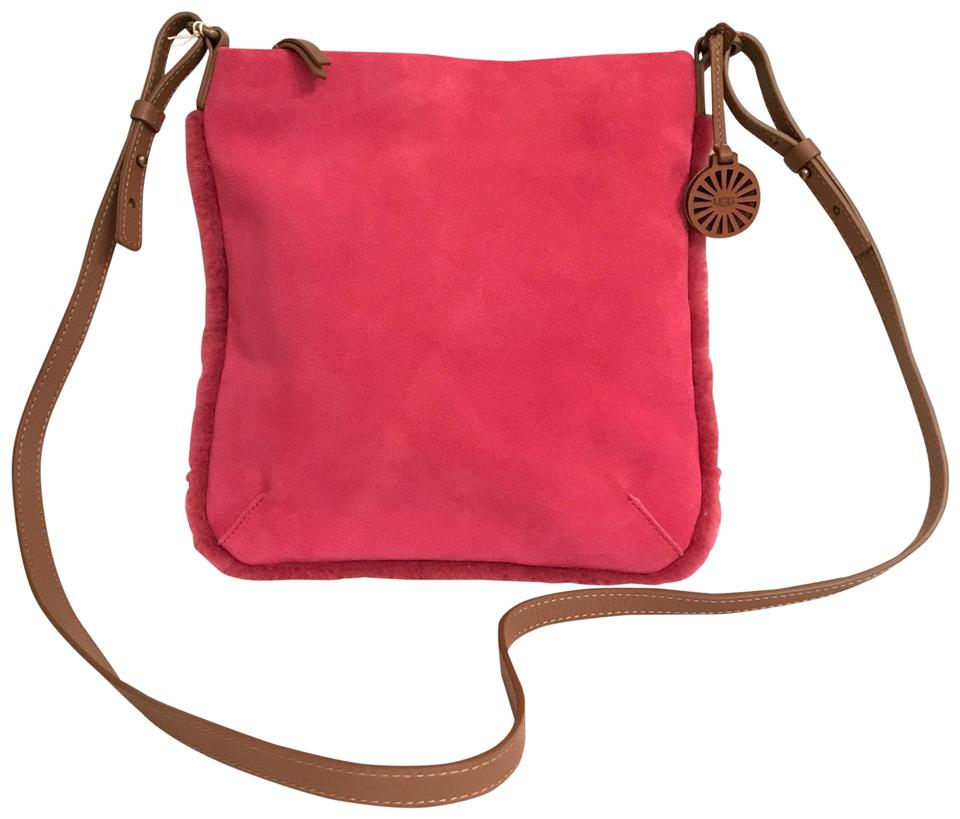 75c3820e214 UGG Australia New Ayden Pink Brown Suede Leather Cross Body Bag