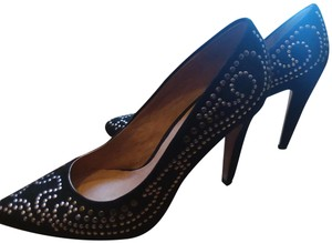 ALDO Leather Studded black and metallic Pumps