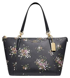 Coach Satchel Leather Satchel 58318 Caoch Ava Tote in MIDNIGHT MULTI GOLD