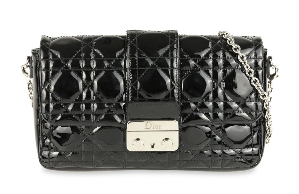78d0e5d59d Dior Wallet on Chain Miss Promenade Black Patent Leather Cross Body Bag