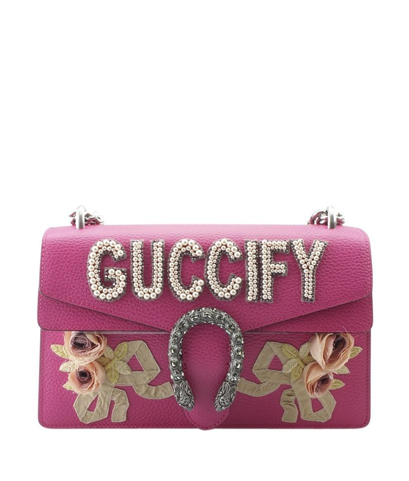 e53881f451d6 Gucci Dionysus 400249 Small (151406) Pink Leather Shoulder Bag - Tradesy