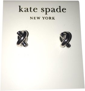 Kate Spade Kate Spade Sailors Knot Stud Earrings Silver w/ 14K Gold Fill
