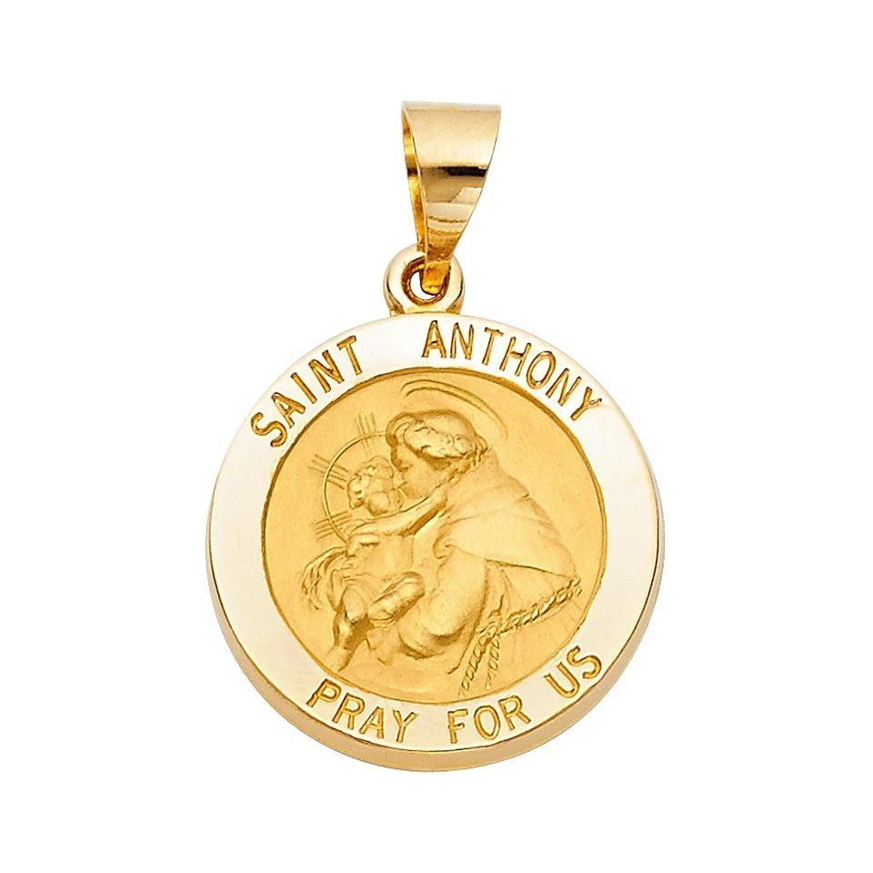 Yellow 14k religious st anthony pendant charm tradesy top gold diamond jewelry 14k yellow gold religious st anthony pendant aloadofball Images