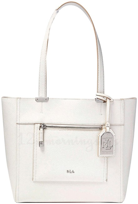 Item - Paley Pebbled Pouch & Shopper Style No. 431593285002 Bright White Faux Leather Tote