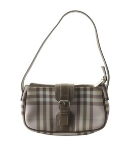 Burberry Canvas Pochette Wristlet in BrownxPink