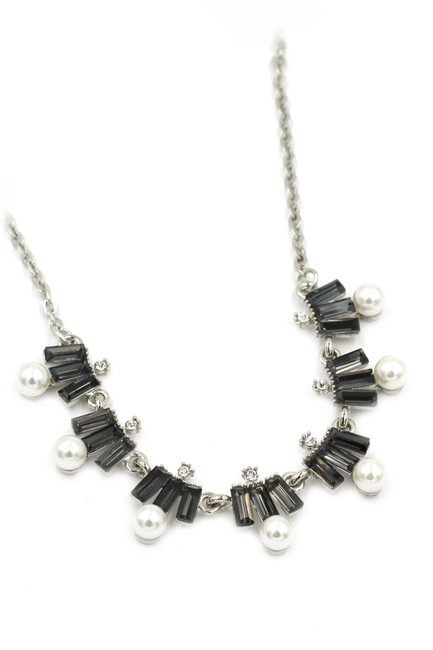 Ocean Fashion Black Crystal and Pearl Necklace Ocean Fashion Black Crystal and Pearl Necklace Image 1