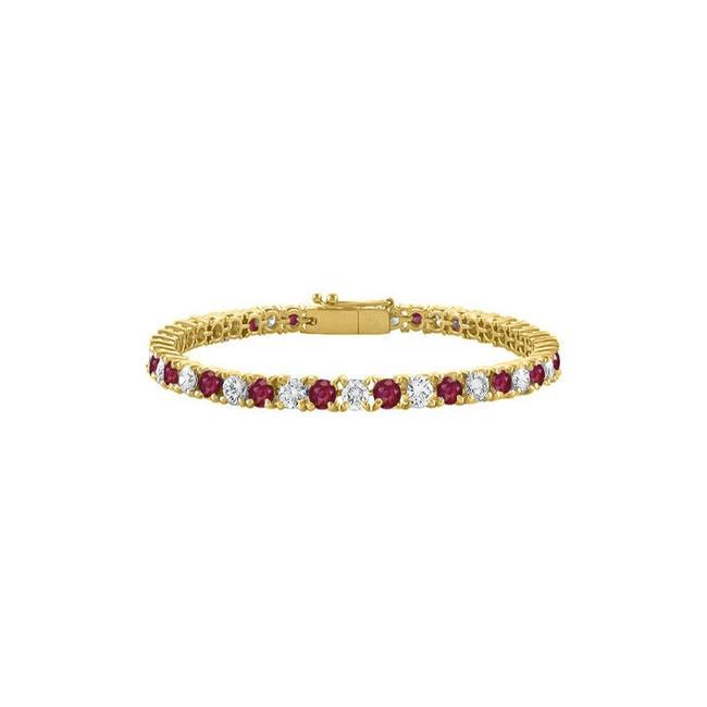 Red Designer Cubic Zirconia and Created Ruby Tennis with 7ct Tgw Bracelet Red Designer Cubic Zirconia and Created Ruby Tennis with 7ct Tgw Bracelet Image 1