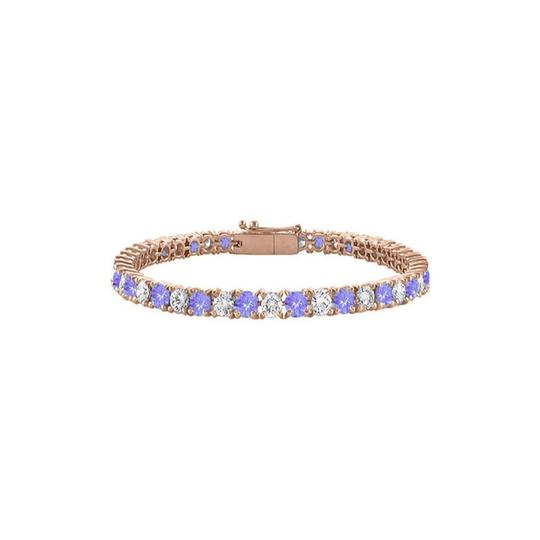 Preload https://img-static.tradesy.com/item/23596589/blue-created-tanzanite-and-cubic-zirconia-tennis-rose-vermeil-bracelet-0-0-540-540.jpg