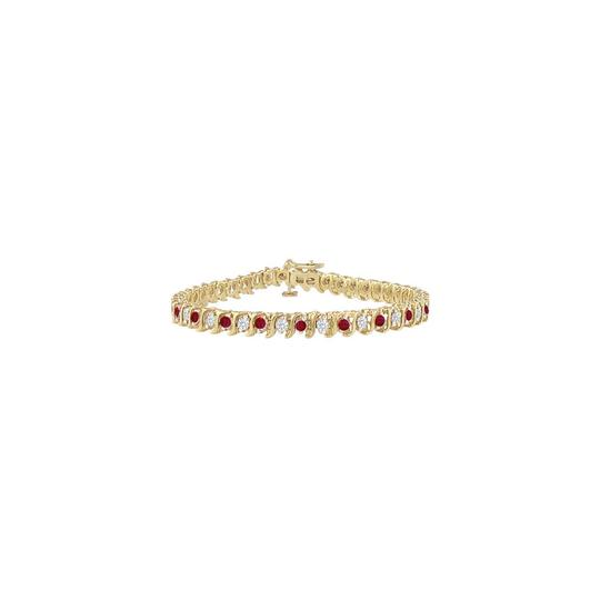 Preload https://img-static.tradesy.com/item/23596692/red-created-ruby-and-cz-tennis-500-ct-tgw-on-yellow-vermeil-bracelet-0-0-540-540.jpg