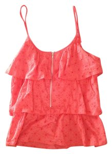 OlsenBoye Halter Spaghetti Straps Summer Spring Coral Halter Top