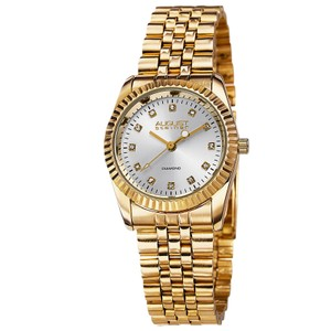 August Steiner August Steiner Women's Gold Diamond Stainless Steel Watch AS8046YG