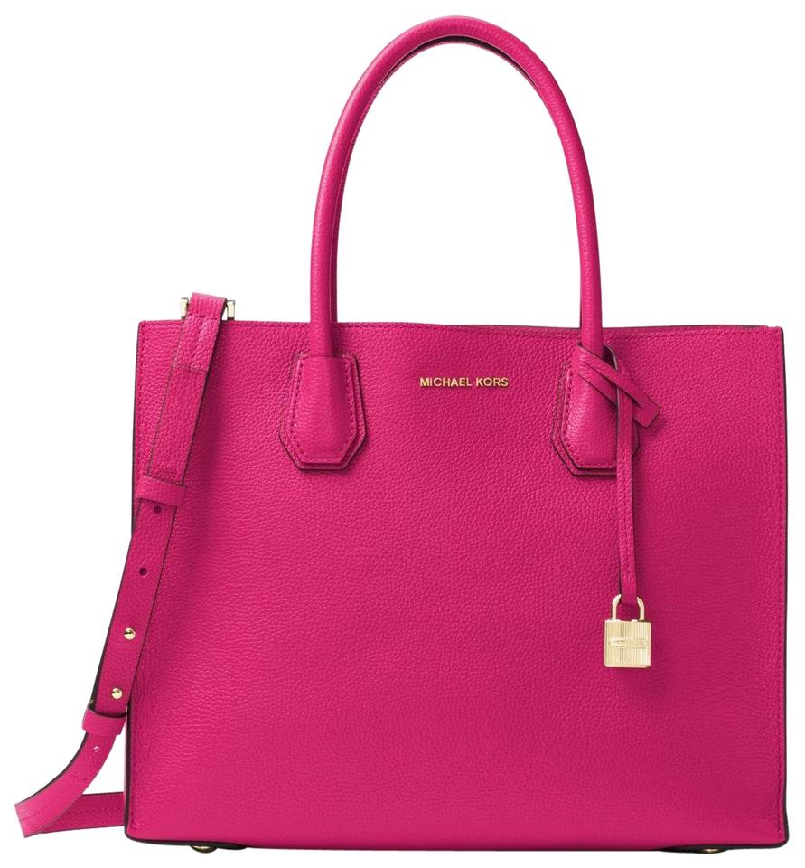 05d8dae3bfdf Michael Kors Large Mercer Pink Leather Tote - Tradesy