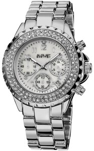 August Steiner August Steiner Women's Silver Mother of Pearl Dial SS Watch AS8031SS