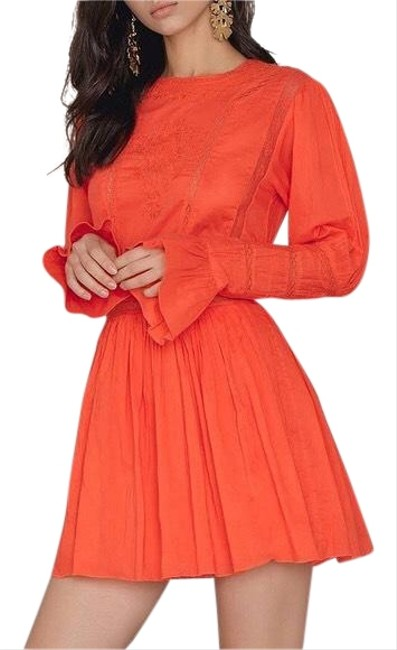 Preload https://img-static.tradesy.com/item/23596989/free-people-orange-clementine-victorian-embroidered-short-casual-dress-size-0-xs-0-1-650-650.jpg