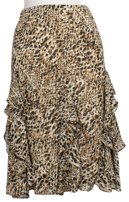 Preload https://img-static.tradesy.com/item/23596997/lauren-ralph-lauren-blackbrown-georgette-animal-print-ruffle-16w-skirt-size-16-xl-plus-0x-0-3-650-650.jpg