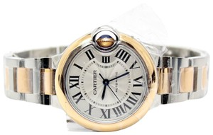 Cartier Cartier Ballon Bleu 33MM Stainless Steel and 18K Rose Gold Ref W2BB002