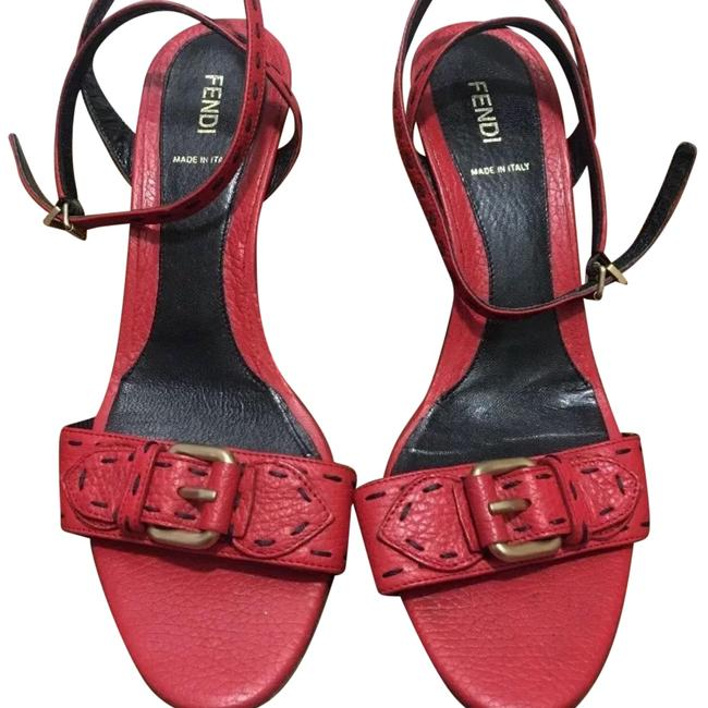 Item - Red Pebbled Wedges Size EU 40 (Approx. US 10) Regular (M, B)