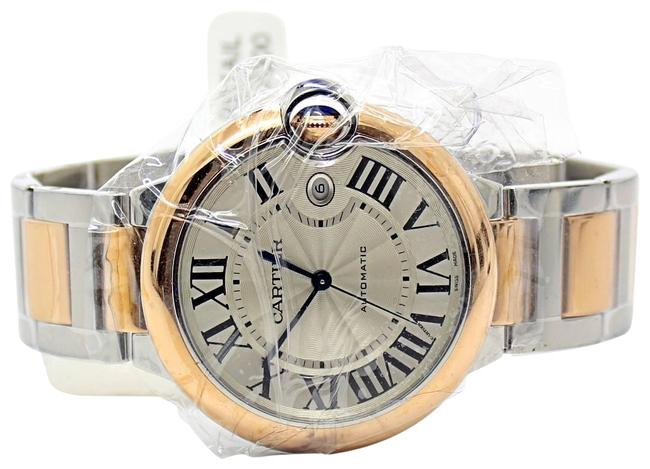 Cartier Silver Ballon Bleu 42mm Steel and 18k Rose Gold Ref W2bb0004 Watch Cartier Silver Ballon Bleu 42mm Steel and 18k Rose Gold Ref W2bb0004 Watch Image 1
