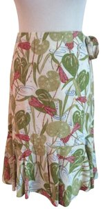 Isda & Co. Casual Lined Skirt Green print