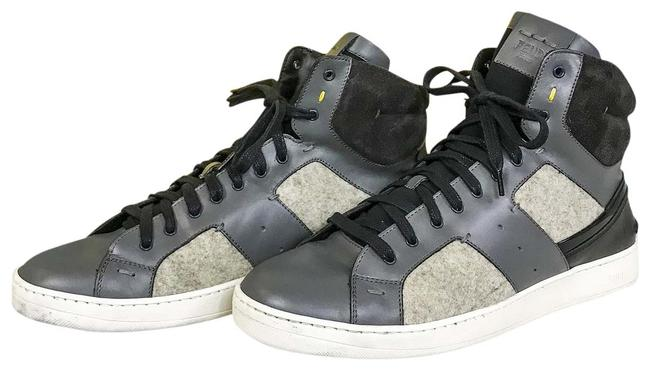 Fendi Gray Patchwork High Top Sneakers Size US 8 Regular (M, B) Fendi Gray Patchwork High Top Sneakers Size US 8 Regular (M, B) Image 1