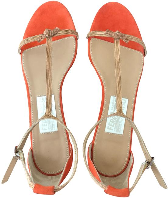 Item - Orange and Gold Sandals Size US 6.5 Narrow (Aa, N)