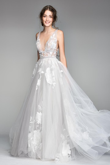 Preload https://img-static.tradesy.com/item/23597865/bhldn-silver-tulle-hearst-willowby-by-watters-style-44638658-modern-wedding-dress-size-8-m-0-0-540-540.jpg
