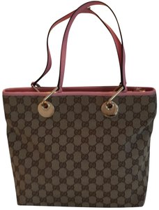 Gucci Tote in Brown , Tan and pink