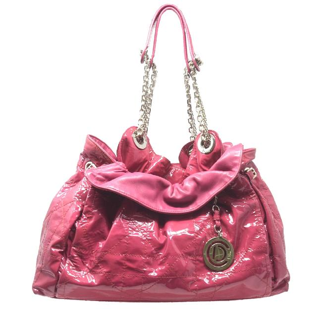 Dior Cannage Le Trente Pink Patent Leather Shoulder Bag Dior Cannage Le Trente Pink Patent Leather Shoulder Bag Image 1