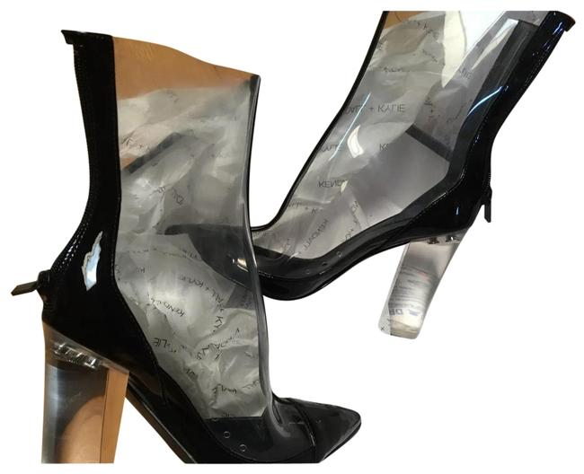 Kendall + Kylie Black/Clear/Pvc Haven Boots/Booties Size US 6.5 Regular (M, B) Kendall + Kylie Black/Clear/Pvc Haven Boots/Booties Size US 6.5 Regular (M, B) Image 1