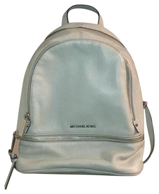 Item - Rhea Medium Taupe with Silver Hardware Leather Backpack