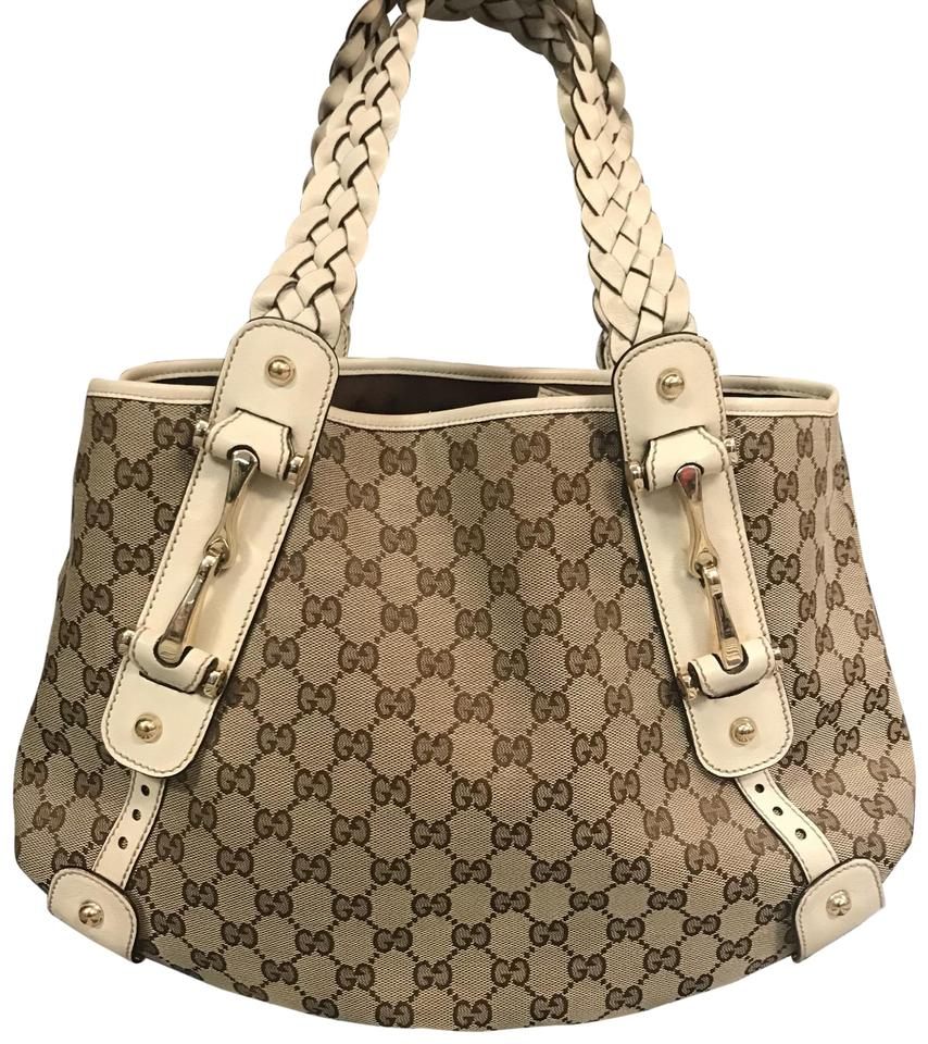 be40e82be093 Gucci Pelham Gg Medium Tote Brown/Off White Canvas Shoulder Bag ...