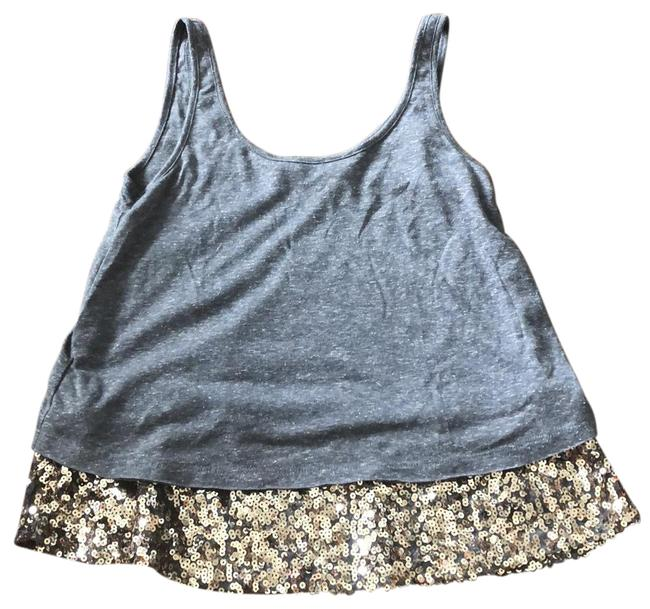 Mudd Gray Sequined Hem Tank Top/Cami Size 0 (XS) Mudd Gray Sequined Hem Tank Top/Cami Size 0 (XS) Image 1