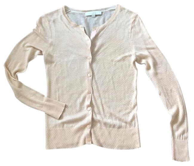Item - Tan with Pale Coral Cardigan Size 0 (XS)