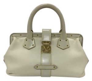 Louis Vuitton Leather Satchel in off-white