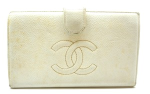 Chanel CC Caviar Leather french wallet kiss lock