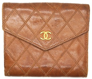 Chanel CC quilted Leather Compact Card wallet