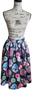 re:named Skirt Black floral