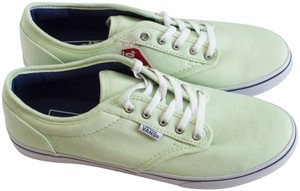 Vans Sneakers Summer Lace Up Close Toe Lime Cream Flats