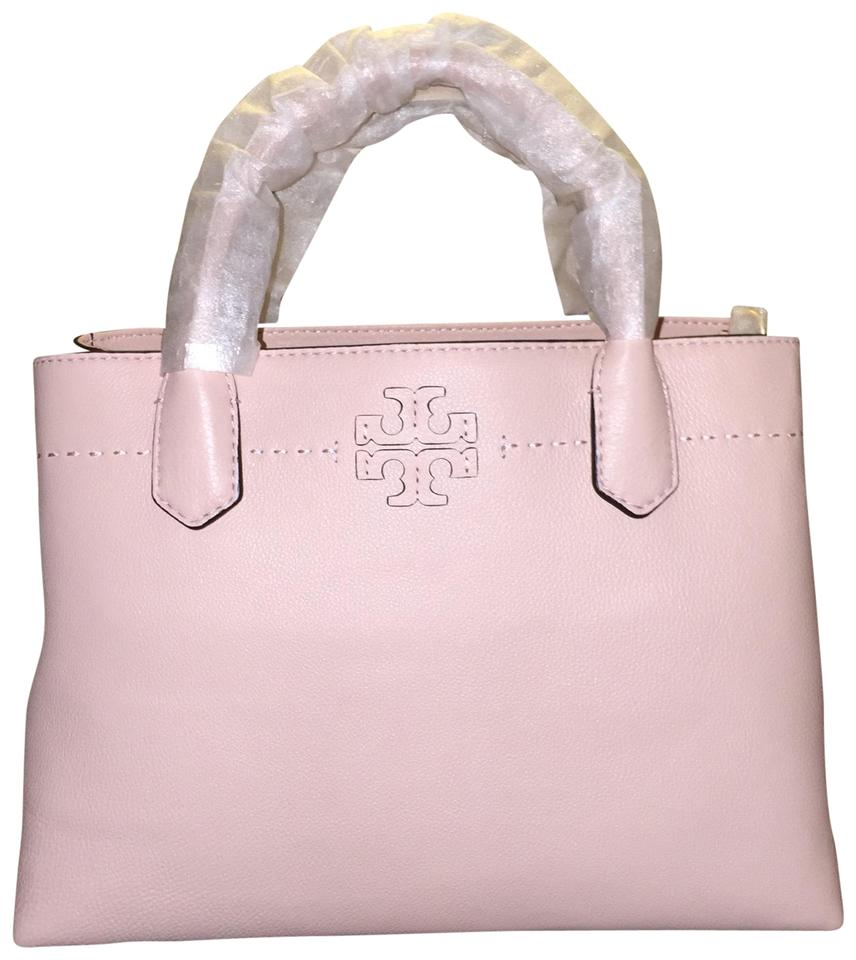 c3cfd9cde4c Tory Burch Mcgraw Triple-compartment Pink Leather Satchel - Tradesy
