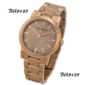 Burberry New Burberry The City Rose Dial Rose Gold-tone Ladies Watch BU9135